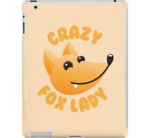 Crazy fox lady (circle) iPad Case/Skin