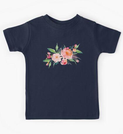 Watercolor Flower Bouquet  Kids Tee