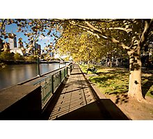 Autumn afternoons - Southbank, Melbourne Australia Photographic Print