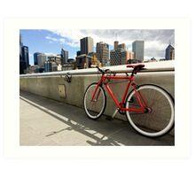 Bicycle Commute -Southbank Melbourne Australia Art Print