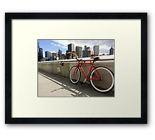 Bicycle Commute -Southbank Melbourne Australia Framed Print