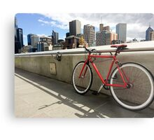 Bicycle Commute -Southbank Melbourne Australia Metal Print