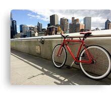 Bicycle Commute -Southbank Melbourne Australia Canvas Print