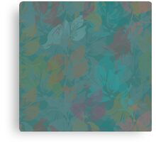 Seamless Flower  Tulip  Pattern. Monochrome background garden Canvas Print