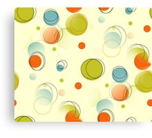 Midcentury Modern Bubble Dots Abstract Pattern Canvas Print