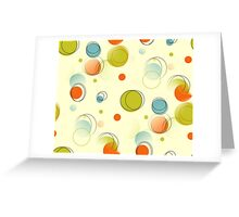 Midcentury Modern Bubble Dots Abstract Pattern Greeting Card
