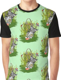 Curious Kitty Graphic T-Shirt