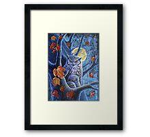 Harvest Moon Owls Framed Print