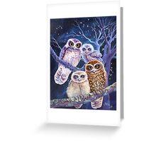 Boobook Owl Family Greeting Card