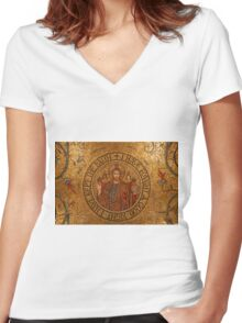 Godly Gold Women's Fitted V-Neck T-Shirt