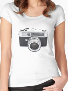 Vintage Camera Yashica Women's Fitted Scoop T-Shirt