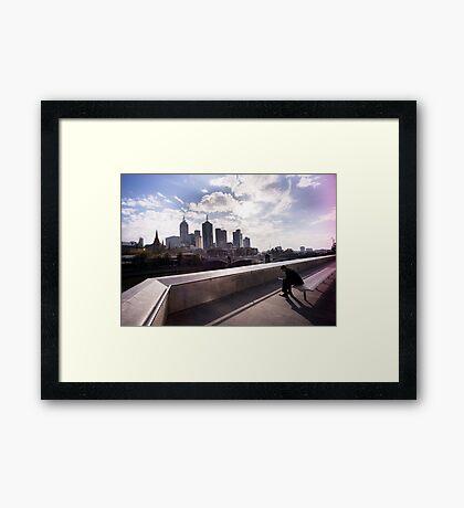 Cubicle lament - Southbank Melbourne Framed Print
