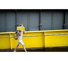 Two legged urban camo - Melbourne Australia Photographic Print