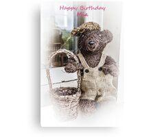 Happy Birthday Mia Canvas Print