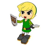 Toon Link on the edge! Photographic Print