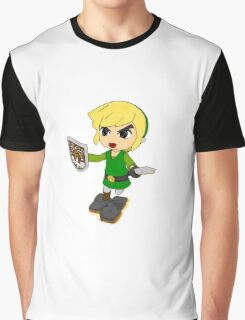 Toon Link on the edge! Graphic T-Shirt