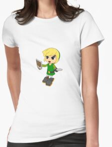 Toon Link on the edge! Womens Fitted T-Shirt