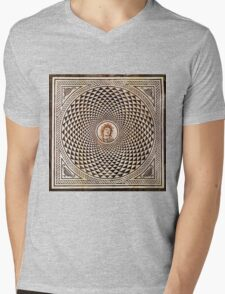 Medusa Mosaic Mens V-Neck T-Shirt