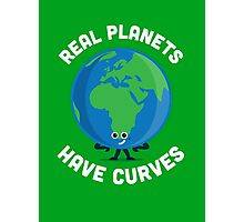 Character Building - Real Planets Have Curves Photographic Print