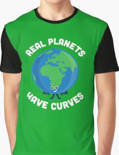 Character Building - Real Planets Have Curves Graphic T-Shirt