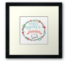 Once upon a book Framed Print