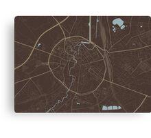 Leuven Map (Autumn II) Canvas Print