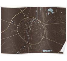 Leuven Map (Autumn II) Poster