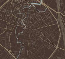 Leuven Map (Autumn II) Sticker