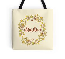 Amilie lovely name and floral bouquet wreath Tote Bag