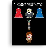 Doctor Who Meets Zelda Canvas Print