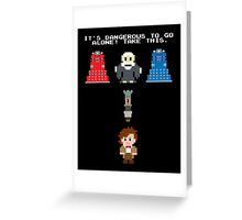 Doctor Who Meets Zelda Greeting Card