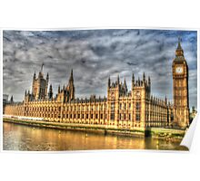 The Tower of Big Ben & the Houses of Parliament in London  Poster