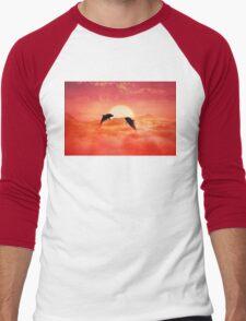 flying dolphins Men's Baseball ¾ T-Shirt