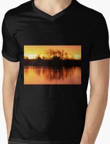 Golden Morning Mens V-Neck T-Shirt