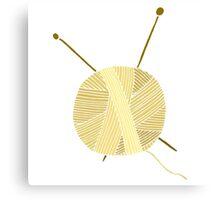 Hand drawn ball of yarn Canvas Print