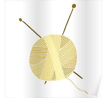 Hand drawn ball of yarn Poster