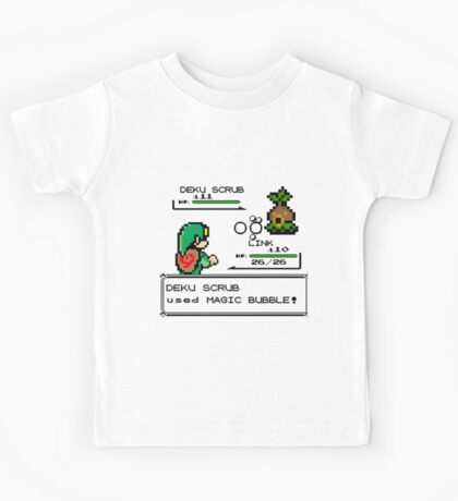 Zelda Pokemon Fight Kids Tee