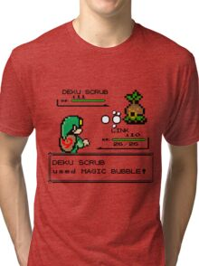 Zelda Pokemon Fight Tri-blend T-Shirt