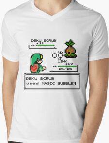 Zelda Pokemon Fight Mens V-Neck T-Shirt