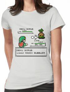 Zelda Pokemon Fight Womens Fitted T-Shirt