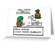 Zelda Pokemon Fight Greeting Card
