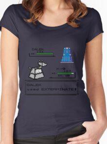 Doctor Who Pokemon Battle Women's Fitted Scoop T-Shirt