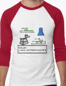 Doctor Who Pokemon Battle Men's Baseball ¾ T-Shirt