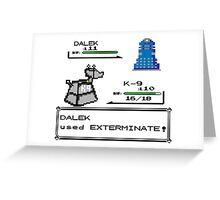 Doctor Who Pokemon Battle Greeting Card
