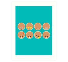 Emoji Building - Pancakes Art Print