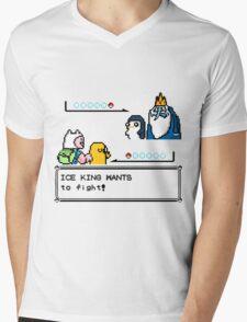 Adventure Time Pokemon Battle Mens V-Neck T-Shirt