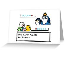 Adventure Time Pokemon Battle Greeting Card