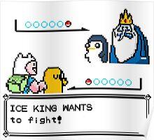 Adventure Time Pokemon Battle Poster