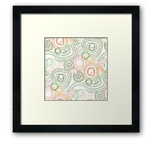 Funky Retro Psychedelic Pattern Crayon Style Framed Print