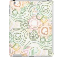Funky Retro Psychedelic Pattern Crayon Style iPad Case/Skin